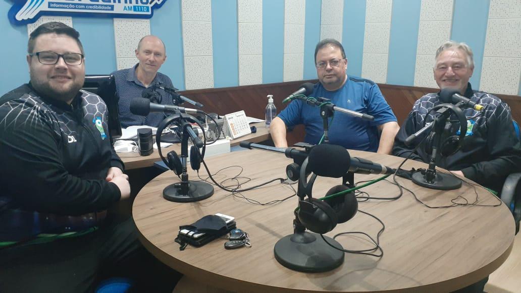 Nova equipe esportiva Rádio Sobradinho-TV Bola na Rede. Foto - Jorge Foletto